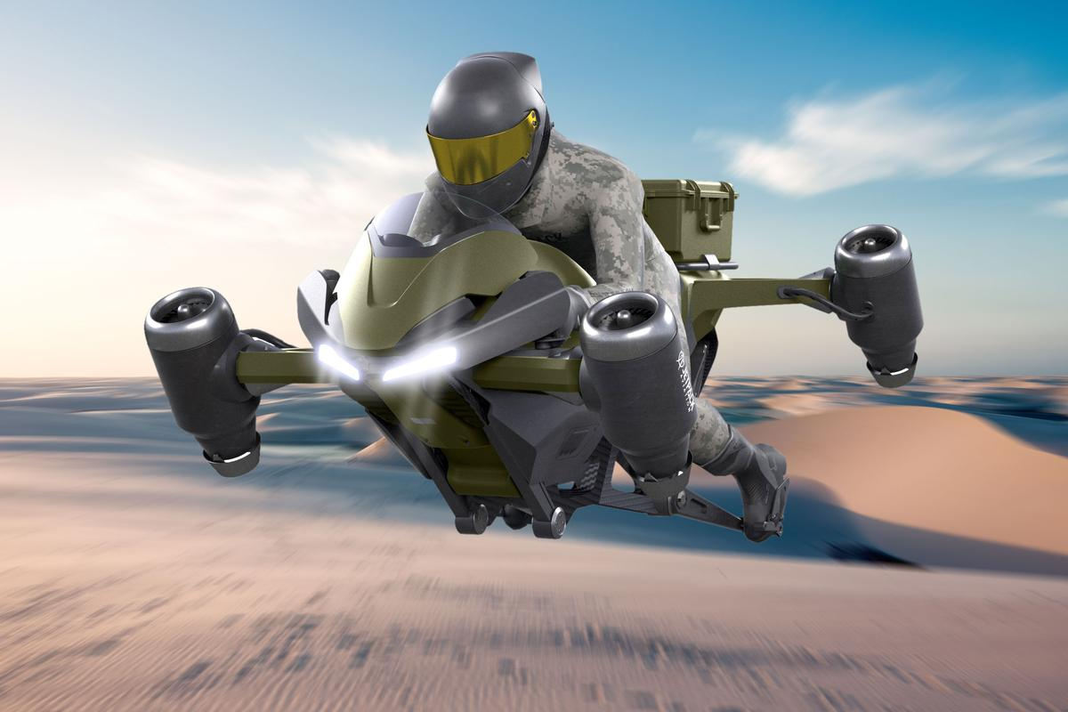 Jetpack Aviation has released new renders of its Speeder flying motorcycle. Looks a tad different to the current prototype!