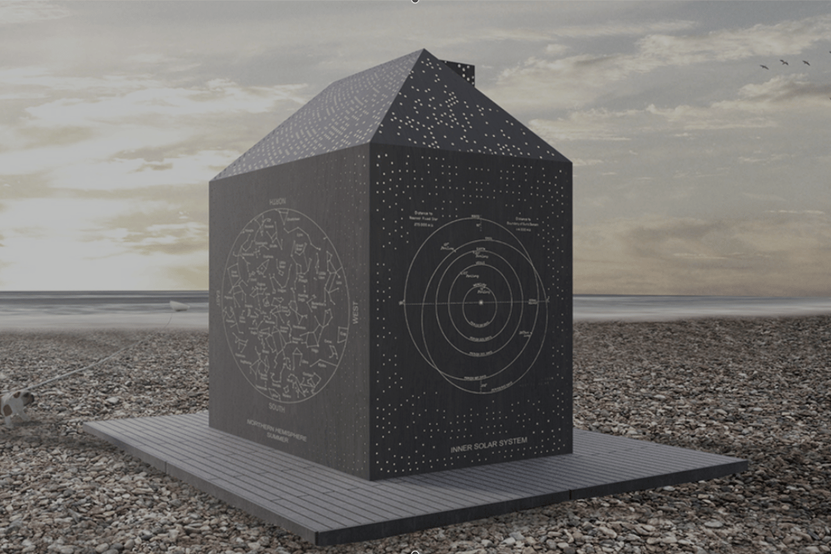 Stargazer's Cabin was created as part of an architectural competition launched by Eastbourne Borough Council