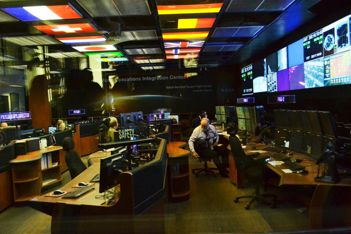 U.S. communication with the International Space Station happens from this room at NASA's Marshall Space Flight Center
