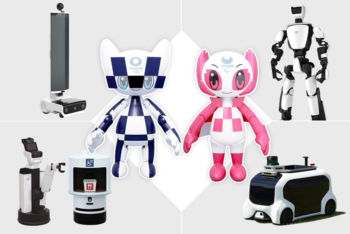 Toyota's fleet of helper robots willsupport the mobility of people during the 2020 Olympic Games in Tokyo