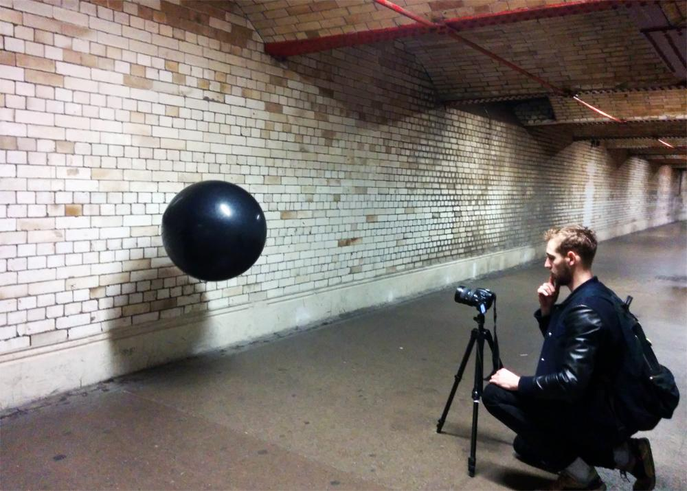 Space Replay is a floating sphere that records and replays the sounds around it