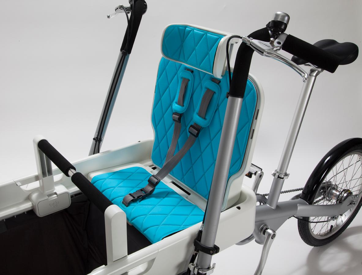 The Taga 2.0 sports modular seats that can be faced either way, recline, and feature multiple harness anchor heights to accommodate children up to eight years old
