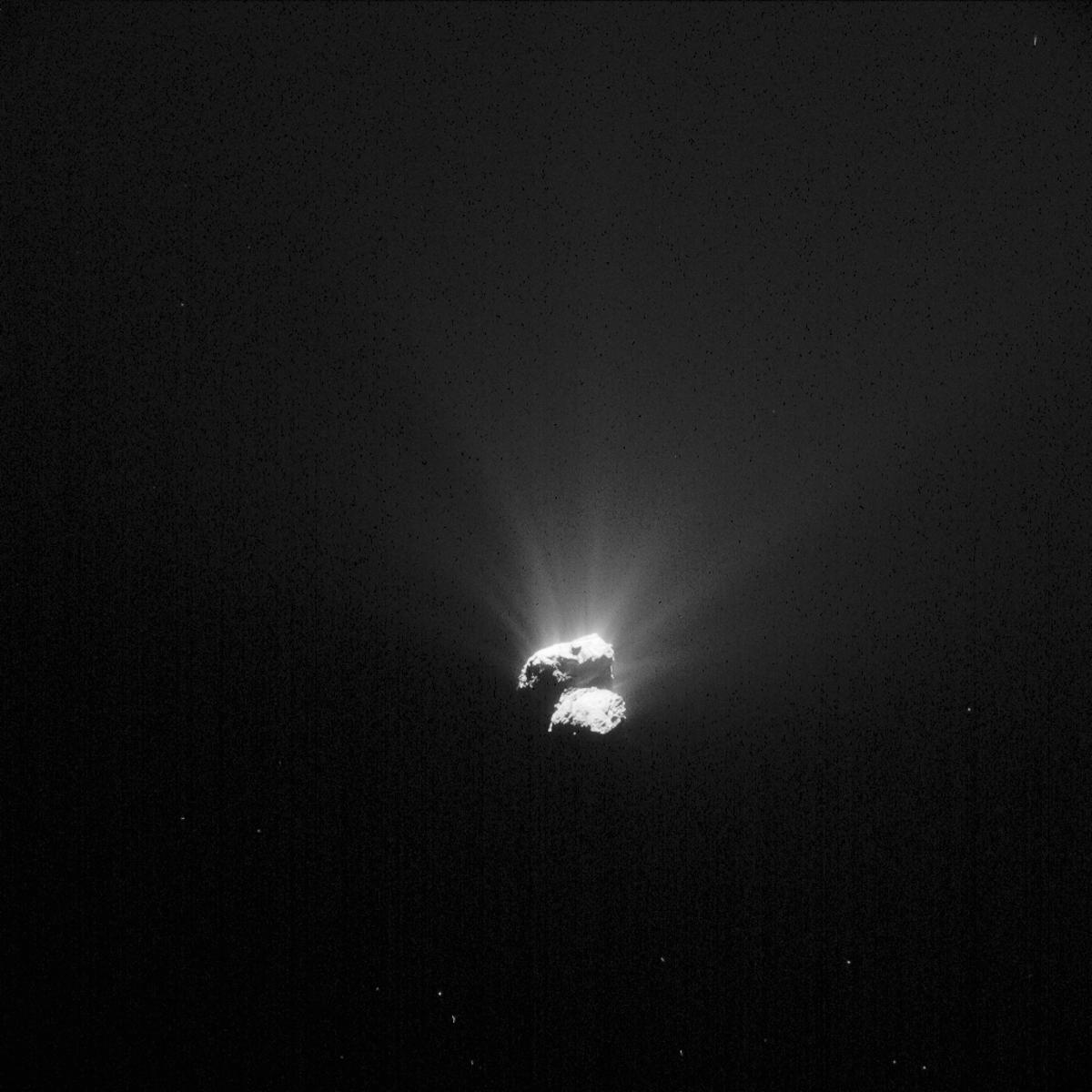 The southern hemisphere of Comet 67P/C-G in a NAVCAM image taken on August 26, 2015
