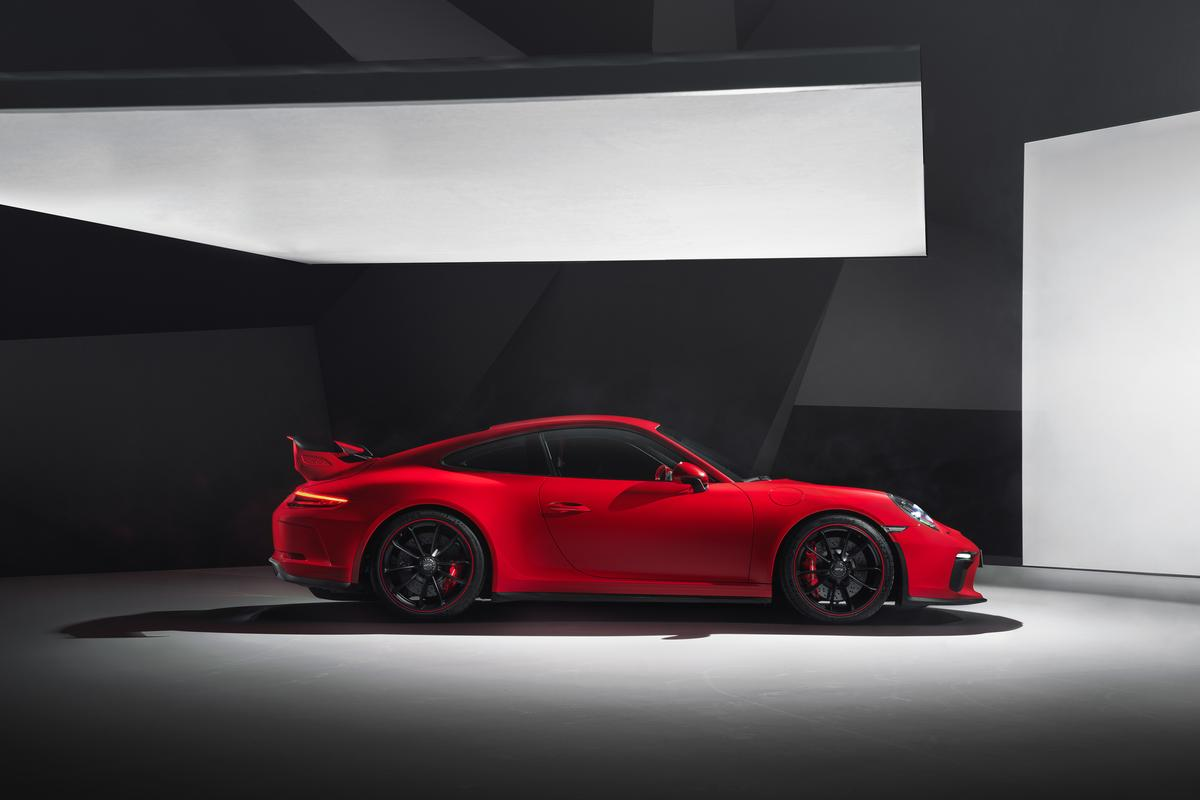 The new 911 GT3 has a taller rear wing than before