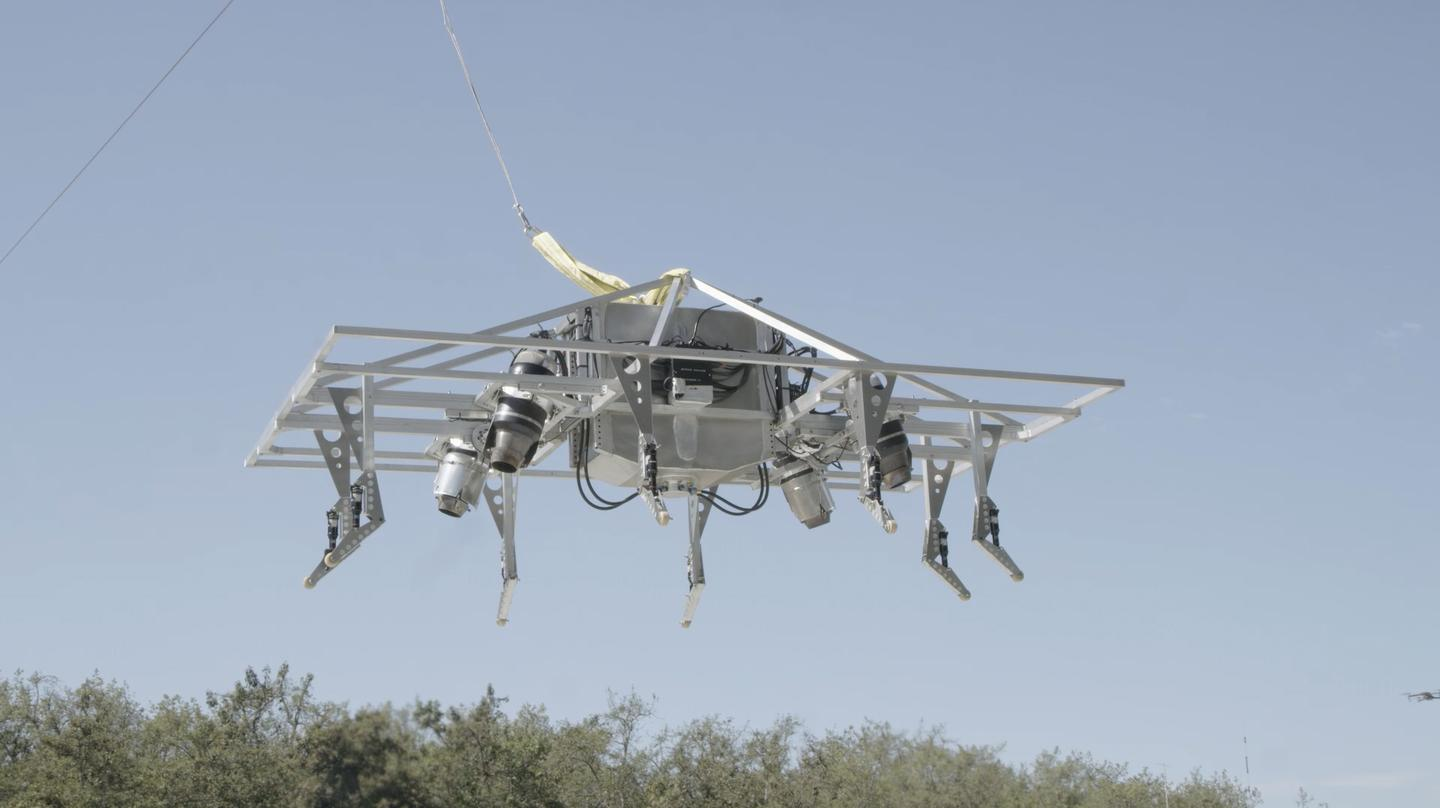 JPA's test platform looks like a bunch of scaffolding, but has allowed the company to validate its pioneering vectored-thrust VTOL flight control system