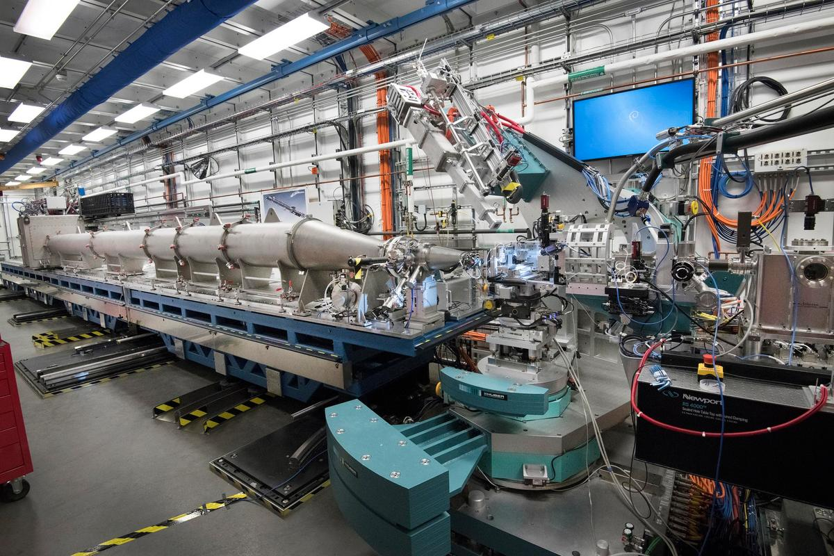 An X-ray beamline at the National Synchrotron Light Source II, where the new quantum X-ray microscope will be built