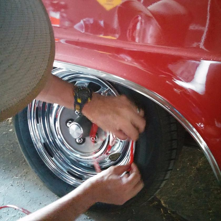 Installation of the RimBlades is easy, requiring nothing more than care as the self-sticking guards are placed