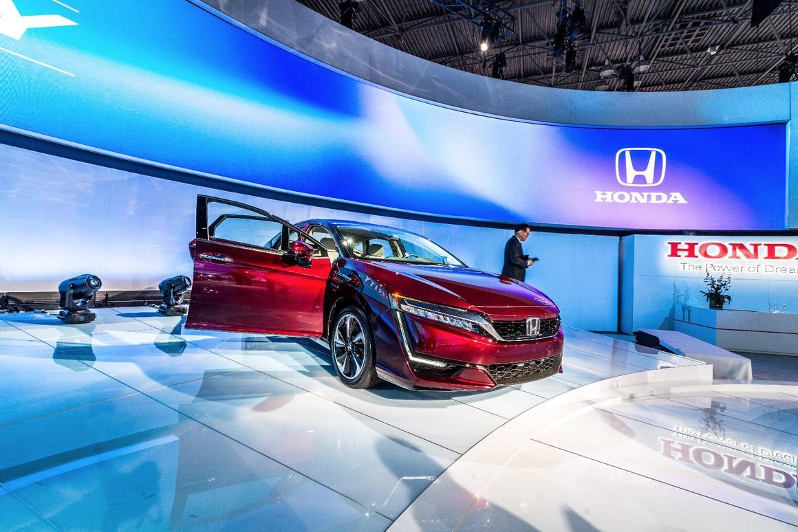 The new Honda Clarity family, on show in NewYork