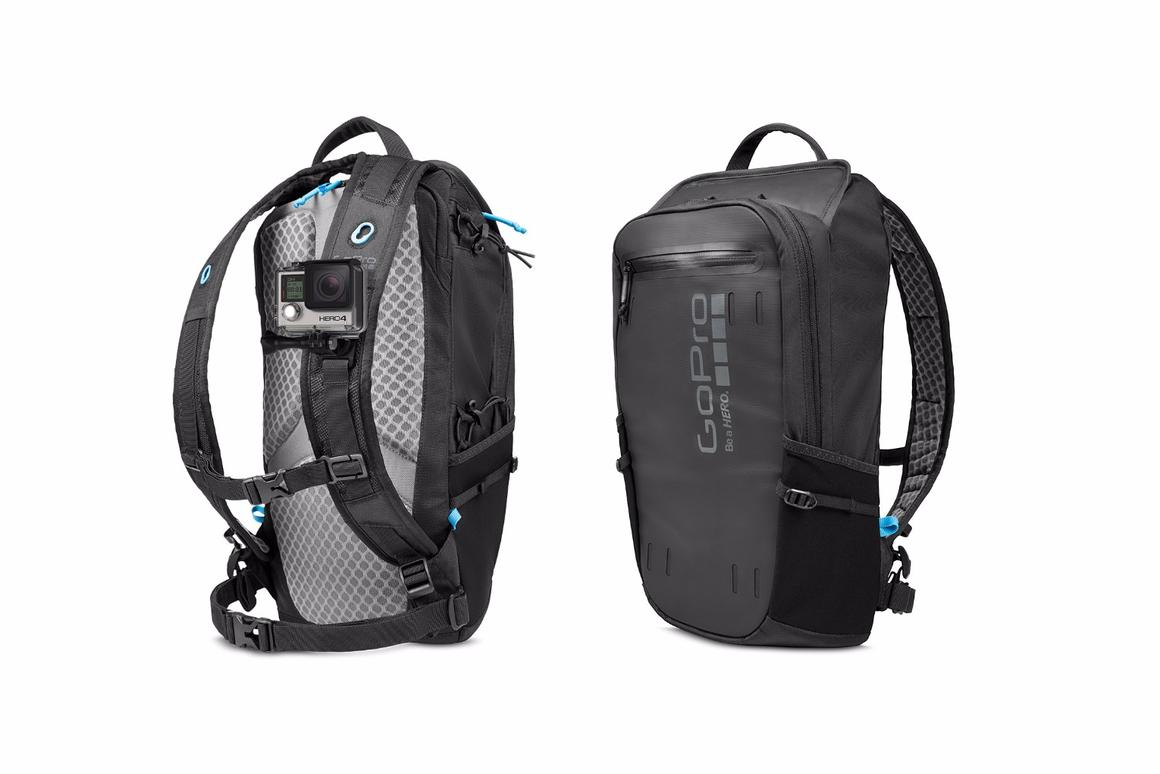 The Seeker backpack can mount cameras in three different ways