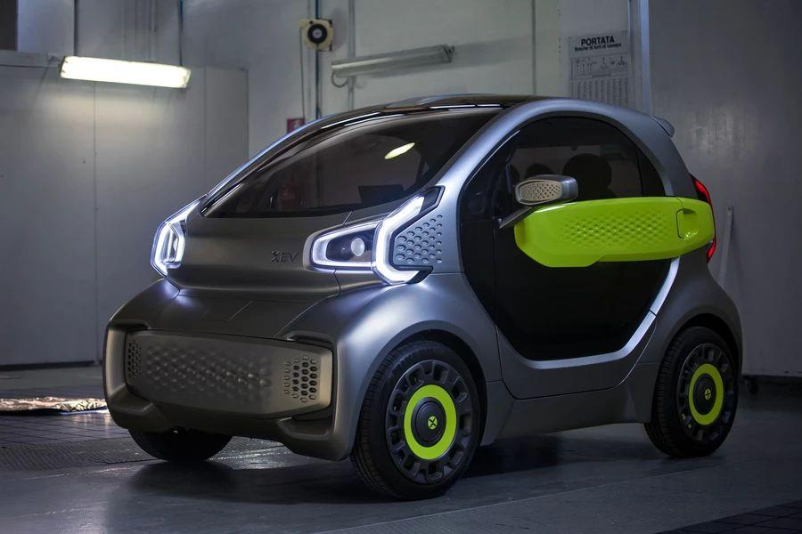 The compact YoYo city EV will feature daytime running lights