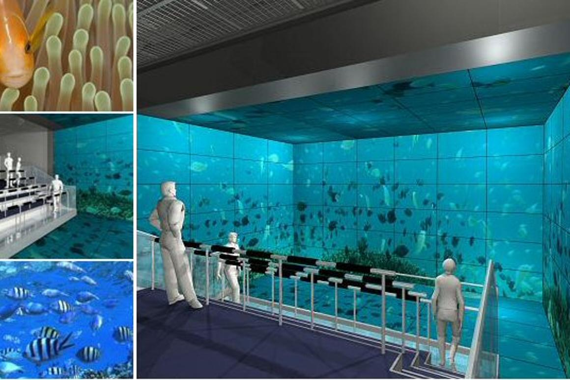 Sharp has installed 156 PN-V601 60-inch LCD monitors and an image transmission system in a theme park attraction in Japan