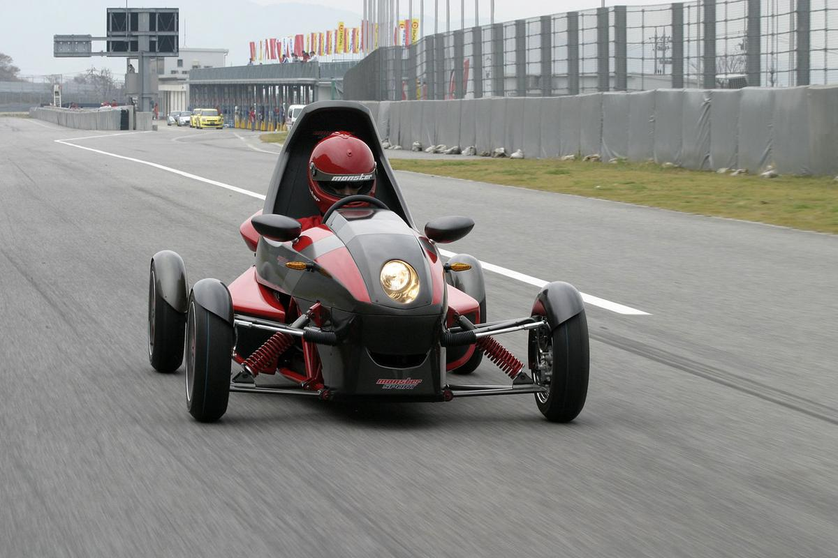 The Tajima Motor Corporation's EV Mini Sport - an electric vehicle that looks more at home on the race track than on suburban streets