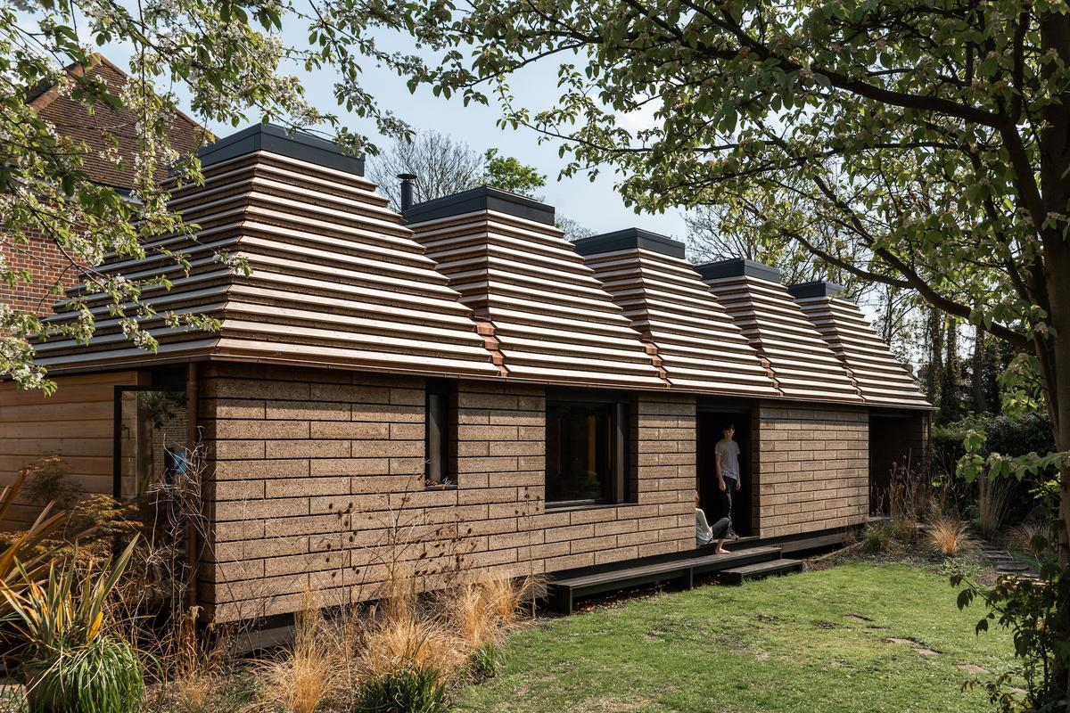 Cork House is a sustainable house made from 1,268 blocks of cork
