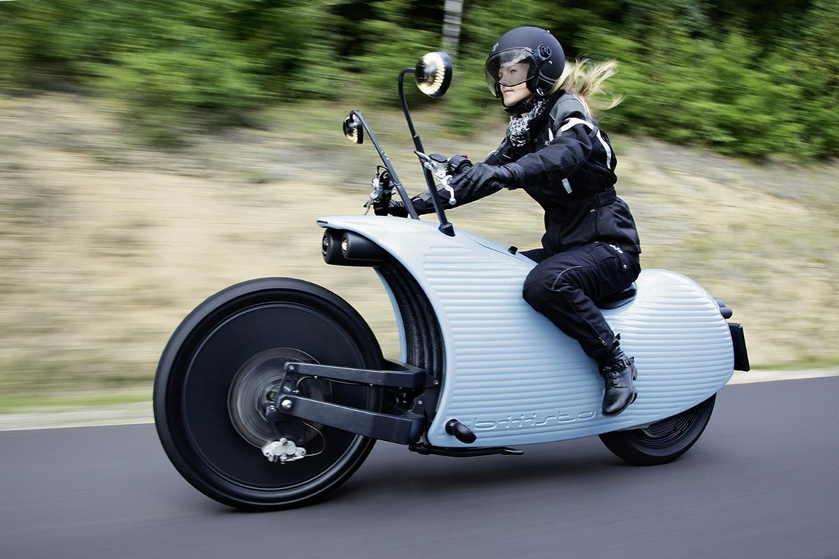 Johammer's unique looking electro-cruiser motorcycle