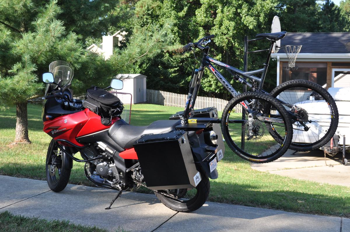 Mounting of the 2X2 Cycles Motorcycle Bicycle Rack doesn't require the motorcycle to be drilled or altered