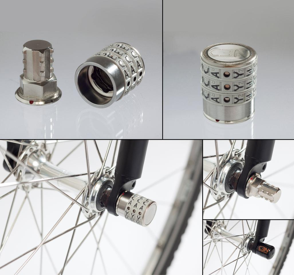The Sphyke C3N lock for nutted wheels