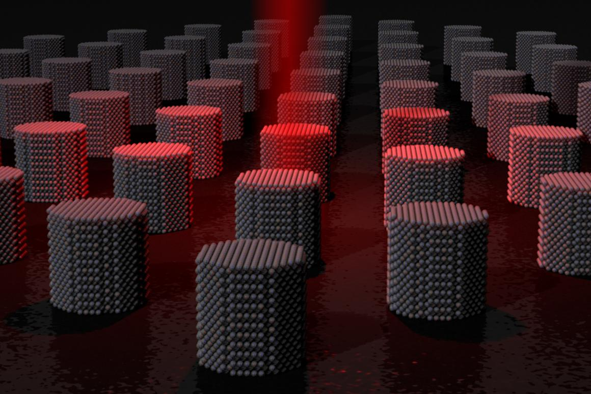 A recent study has shown that heat can be used to magnetically store data on tiny magnetic grains