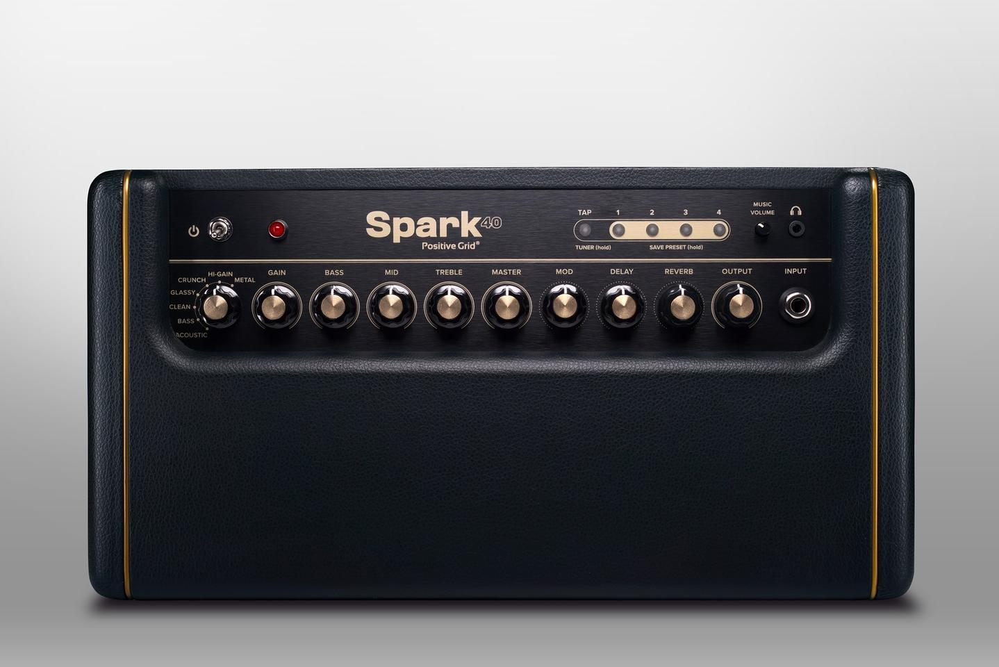 The top of the Spark offers a series of knobs and some buttons – most of these are overridden by commands in the app when you're connected to a device