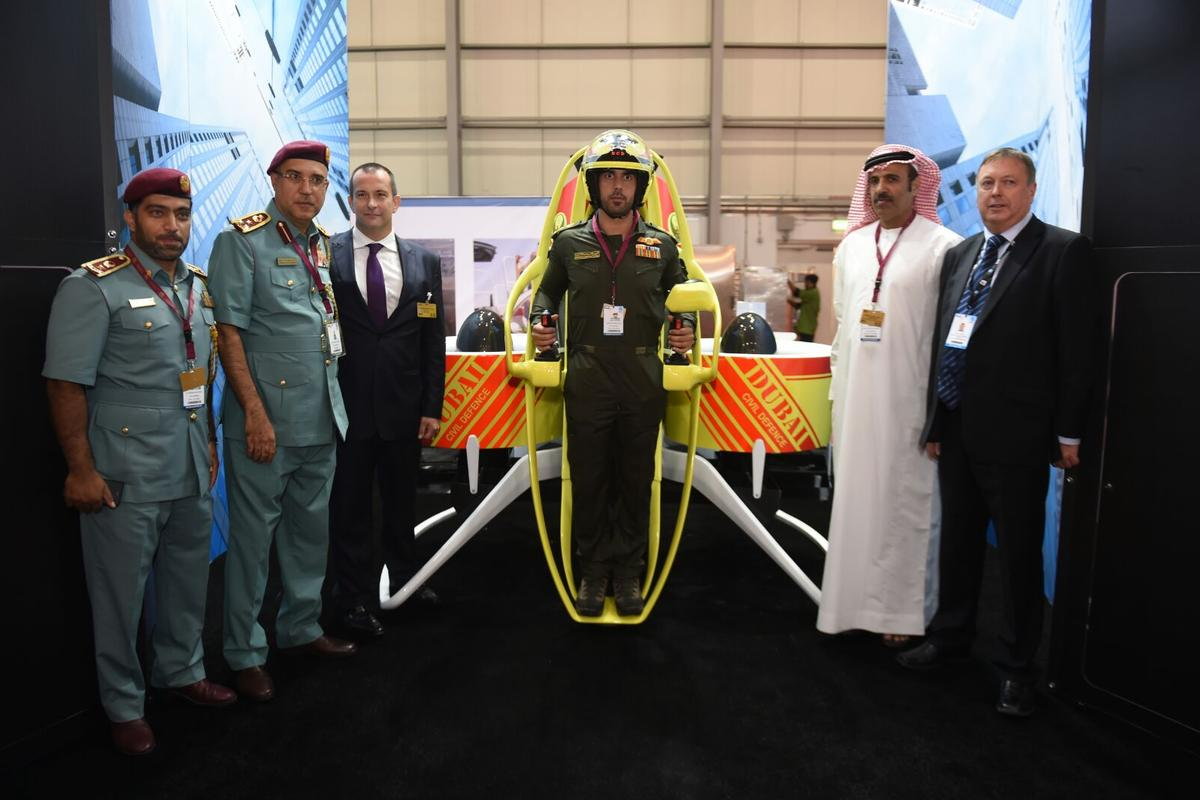 Martin Aircraft Company will provide up to 20 Jetpacks, two training simulators, initial training services and operational support