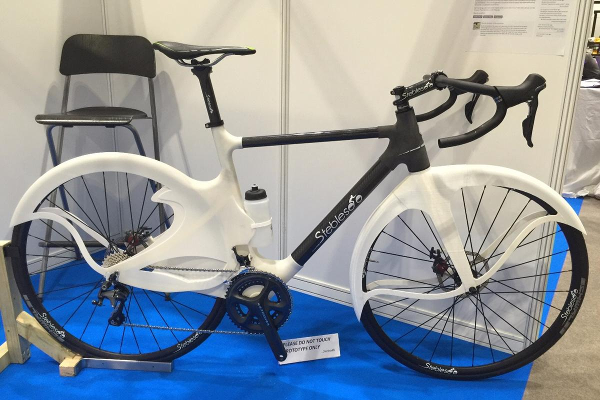 The Stebles Bike prototype, on display recently at the London Bike Show