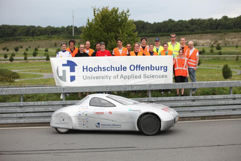 The Schluckspecht E at the Bosch test track
