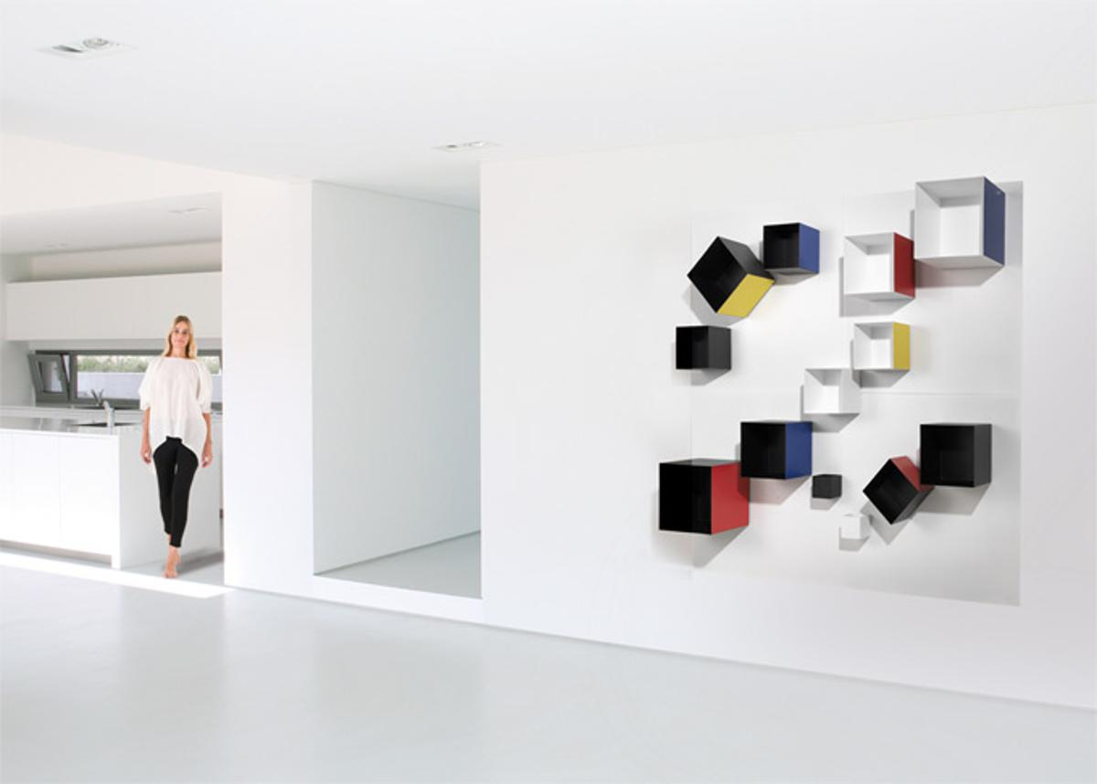 The Magnetic Spirit shelving system - art installation or usable furniture?