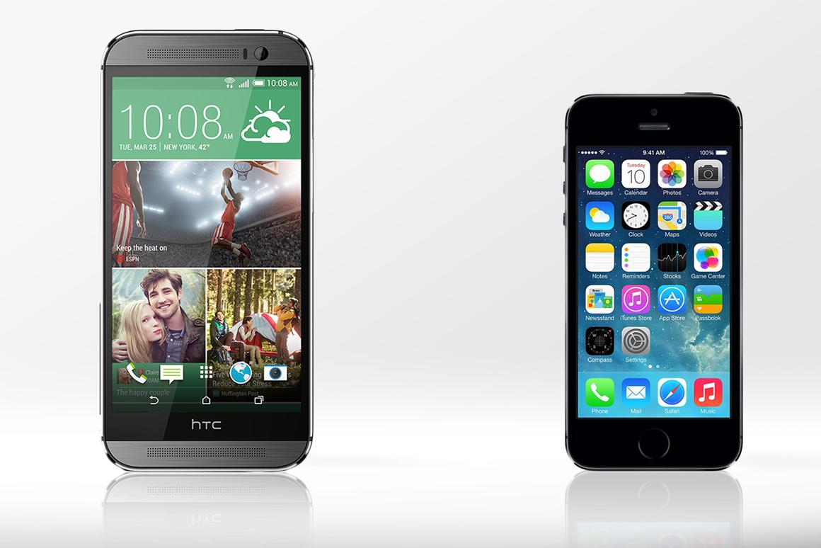 Gizmag compares the features and specs of the HTC One (M8) and Apple iPhone 5s