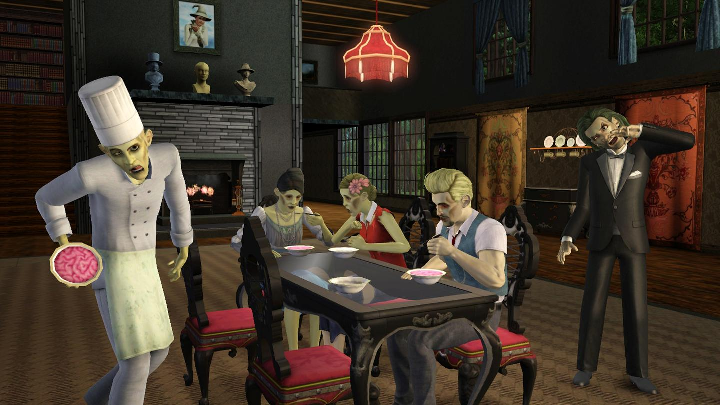 A quiet meal with your fellow ghouls