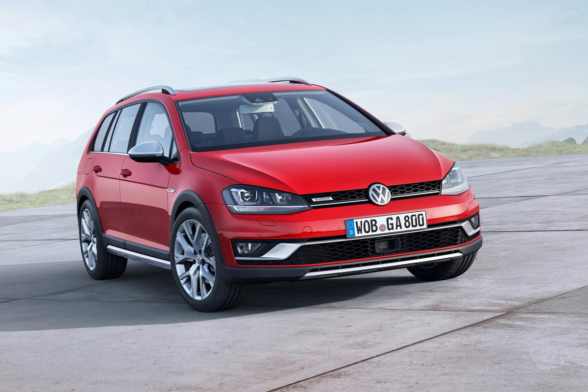 The VW Golf Alltrack bring the Golf into four-wheel territory