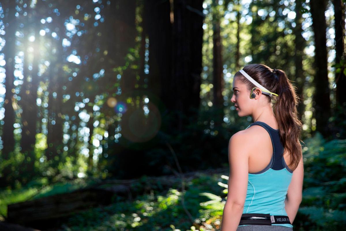 AfterShokz Trekz Titanium bone conduction headphones let you listen to music while still hearing the outside world