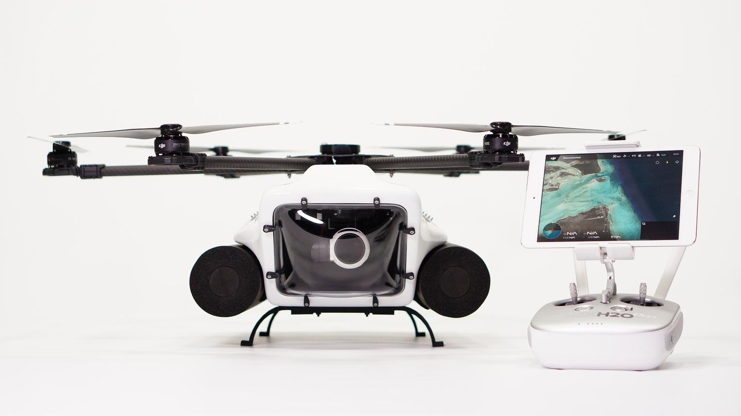 The waterproof HexH20 and its DJI controller