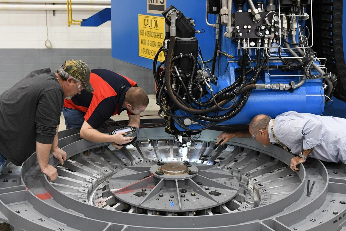 At the NASA Michoud Assembly Facility in Louisiana, Lockheed Martin technicians have started building the first manned Orion