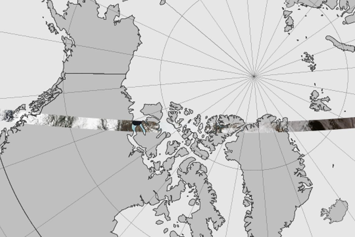 The new mosaic covers 6,800 kilometers (4,200 miles) of icy terrain (Image: NASA Earth Observatory)