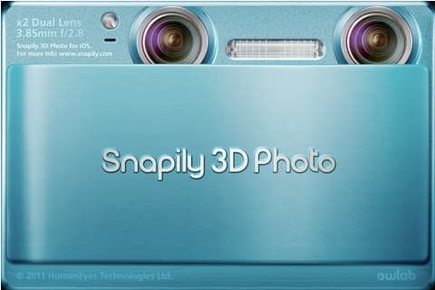 Snapily3D is an iPhone app that allows you to capture 3D pictures and video with the camera on your iPhone