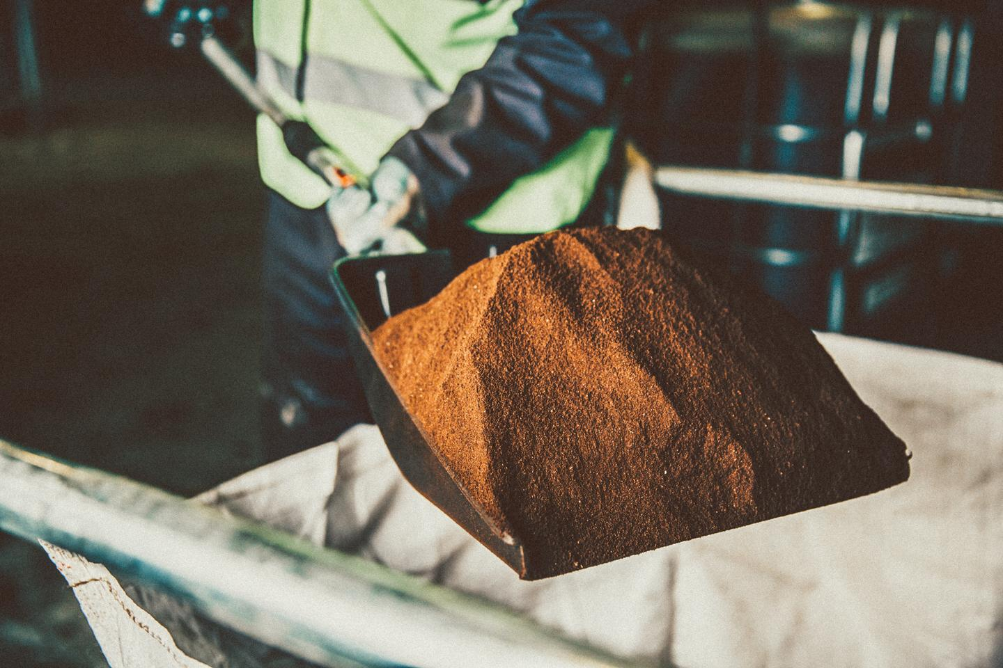 Used coffee grounds are diverted from landfills and turned into biofuels by London company Bio-bean