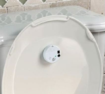 Drink No More is easily attached to the toilet lid