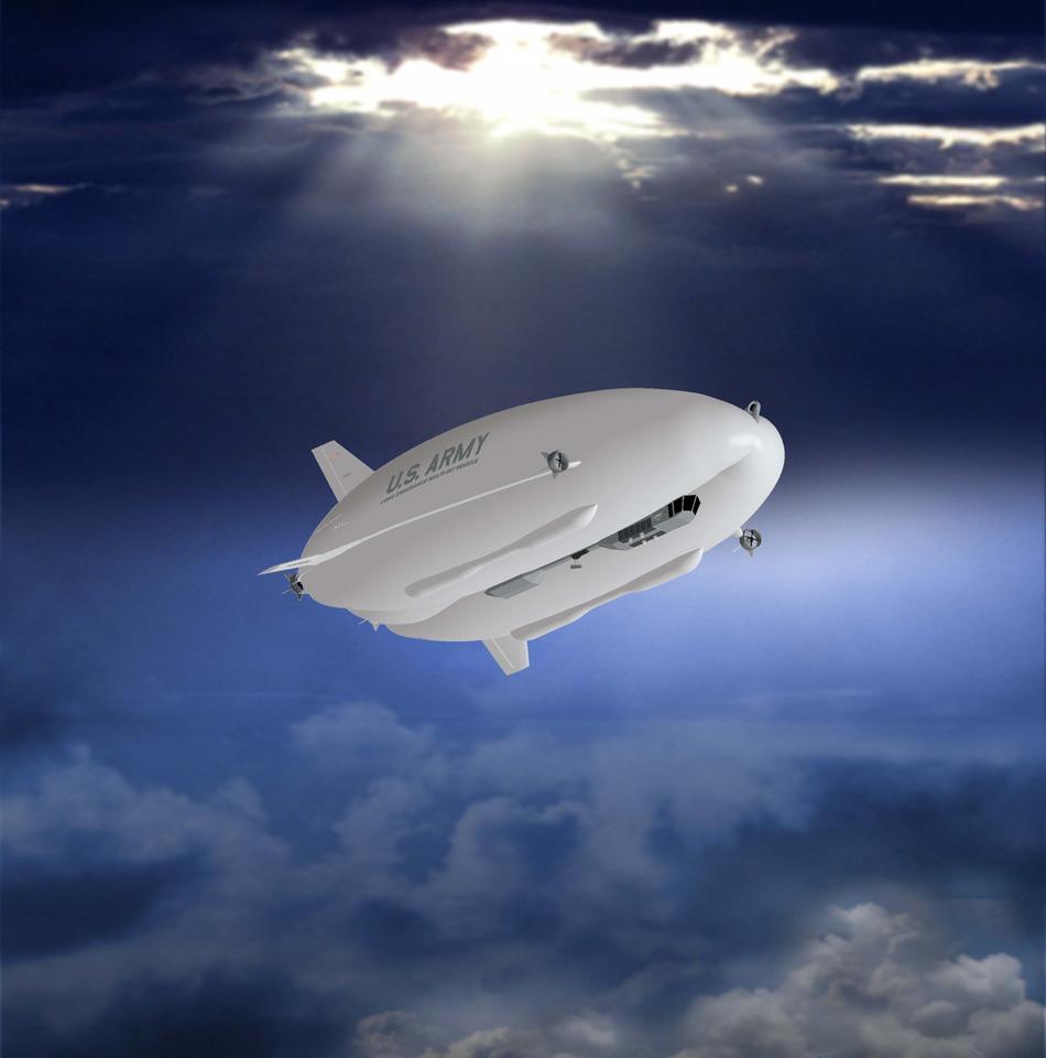 Artist's concept of the Northrop Grumman LEMV airship (Image: Northrop Grumman)