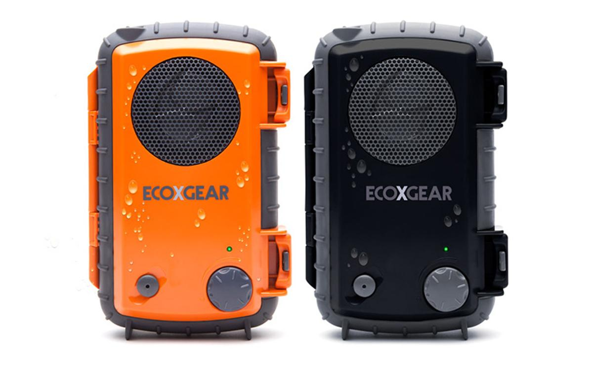 The ECOXPRO Waterproof Speaker Case keeps smartphones safe from water, while playing their music library through a built-in speaker
