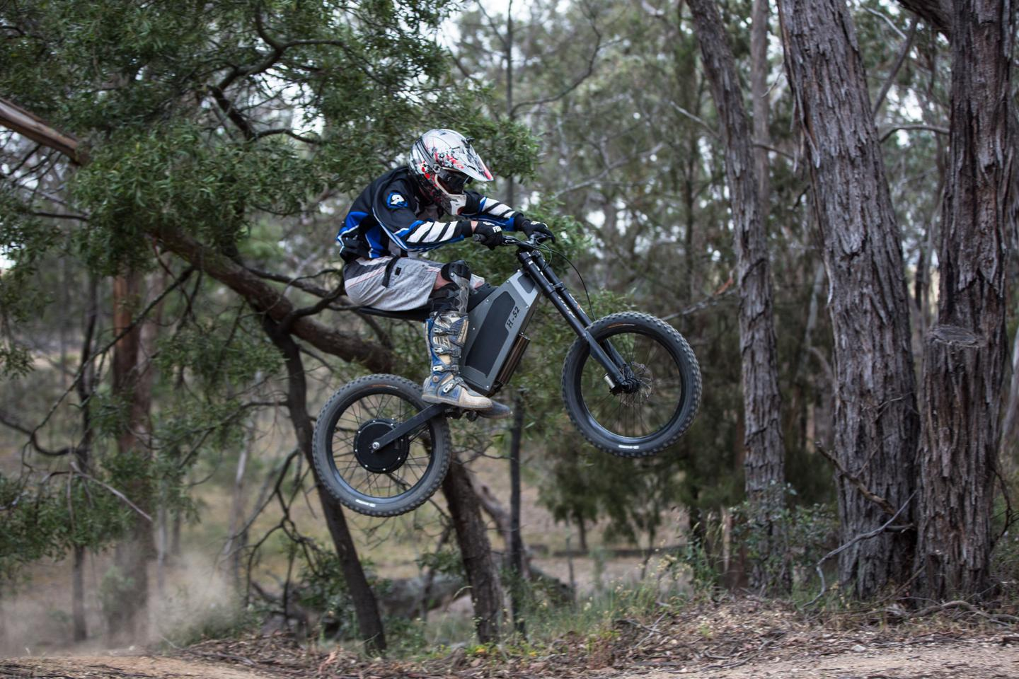 Taking to the air on Stealth's H-52 electric bike