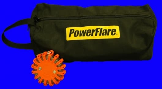 PowerFlares carry bags and other accessories are available
