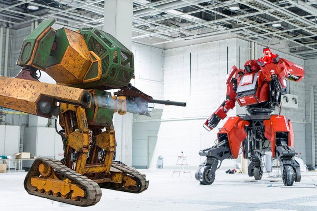Both robots taking part in the giant duel will have the capacity to shoot projectiles at the one another