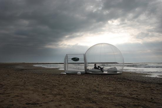 The Bubble collection is a range of portable transparent domed huts, created by French designer Pierre Stephane Dumas (Photo: BubbleTree)