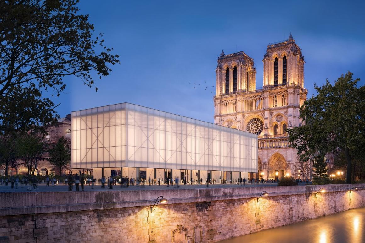 The Pavillion Notre-Dame would have the same interior dimensions as the Notre-Dame de Paris cathedral