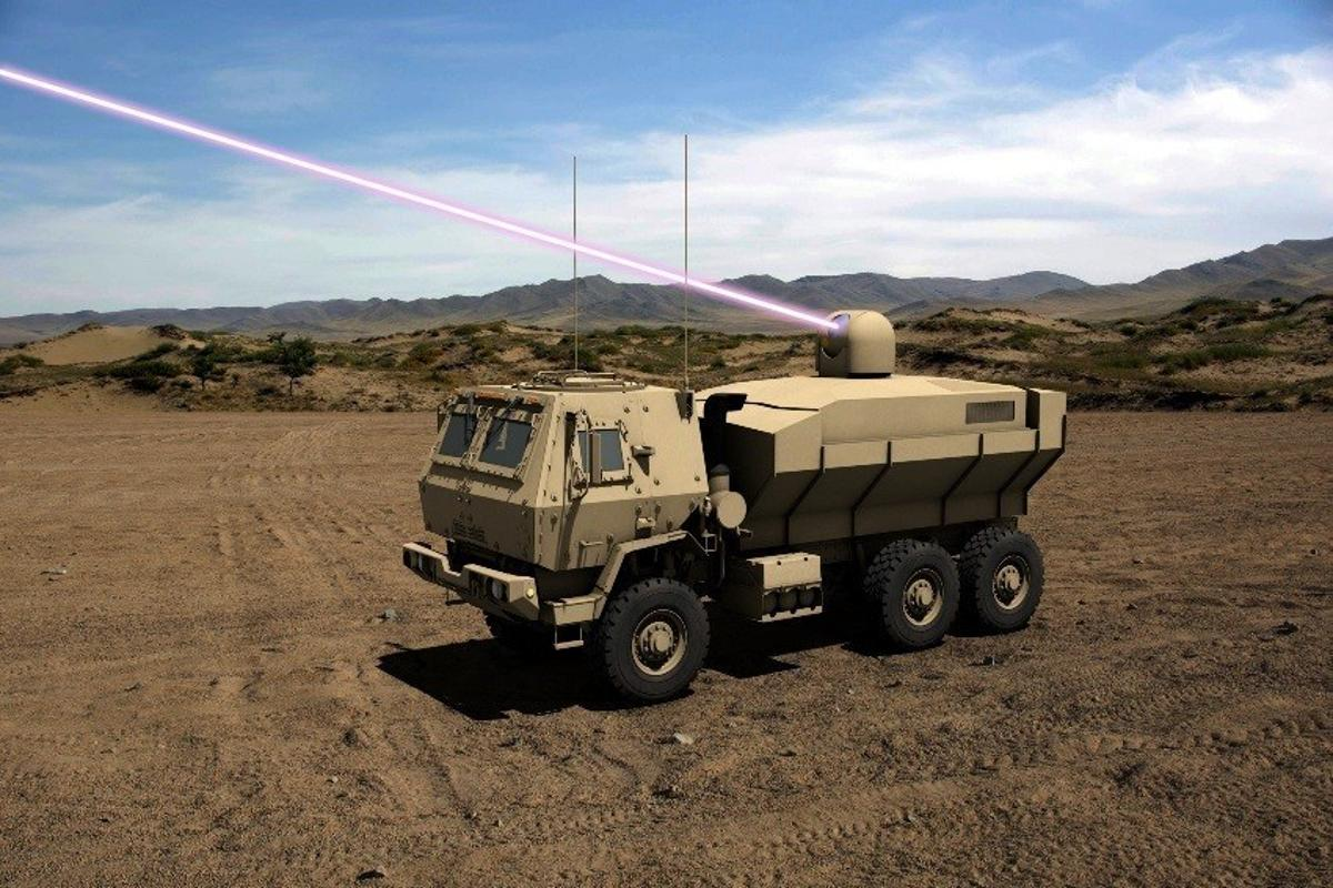 Artist's concept of the High Energy Laser Tactical Vehicle Demonstrator