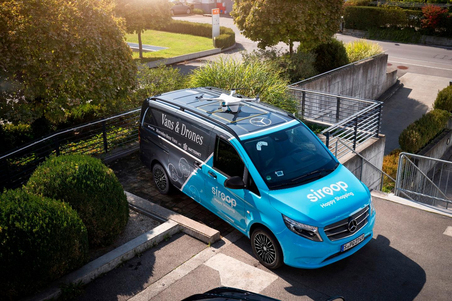 Mercedes kicked off trials of its drone-van delivery service last week