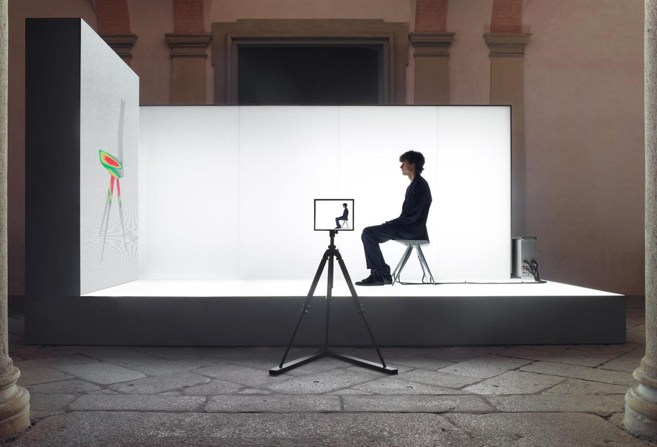 A prototype of the chair was tested by 1,500 people during the Milan Furniture Fair to generate data which was used to perfect the unit