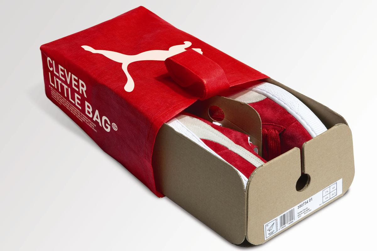 talla 40 venta al por mayor disponible Puma launches 'Clever Little Bag' packaging
