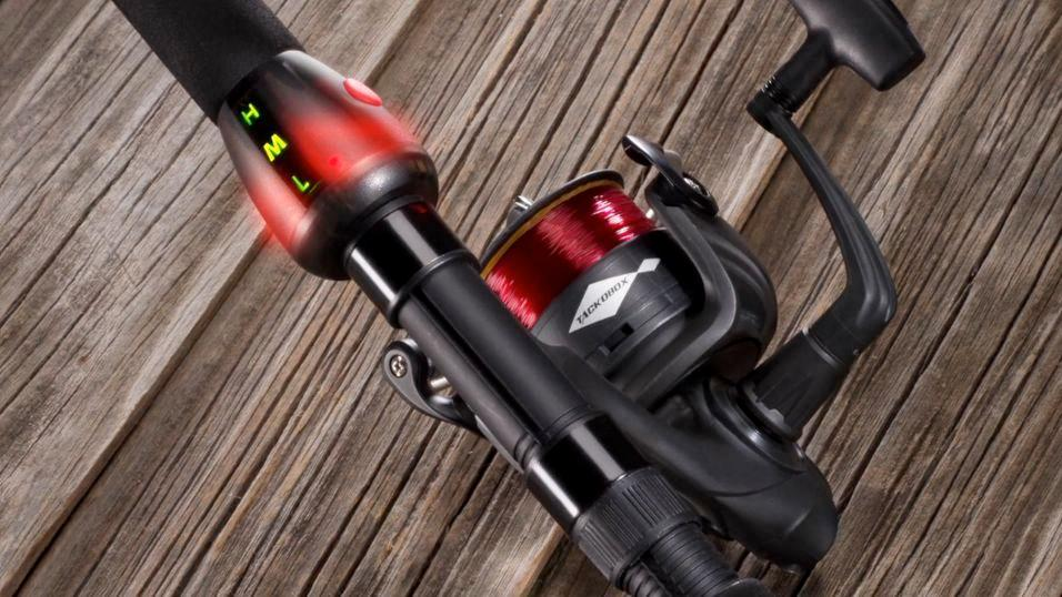 The POLETAP SMARTROD uses a built-in accelerometer to detect fish strikes