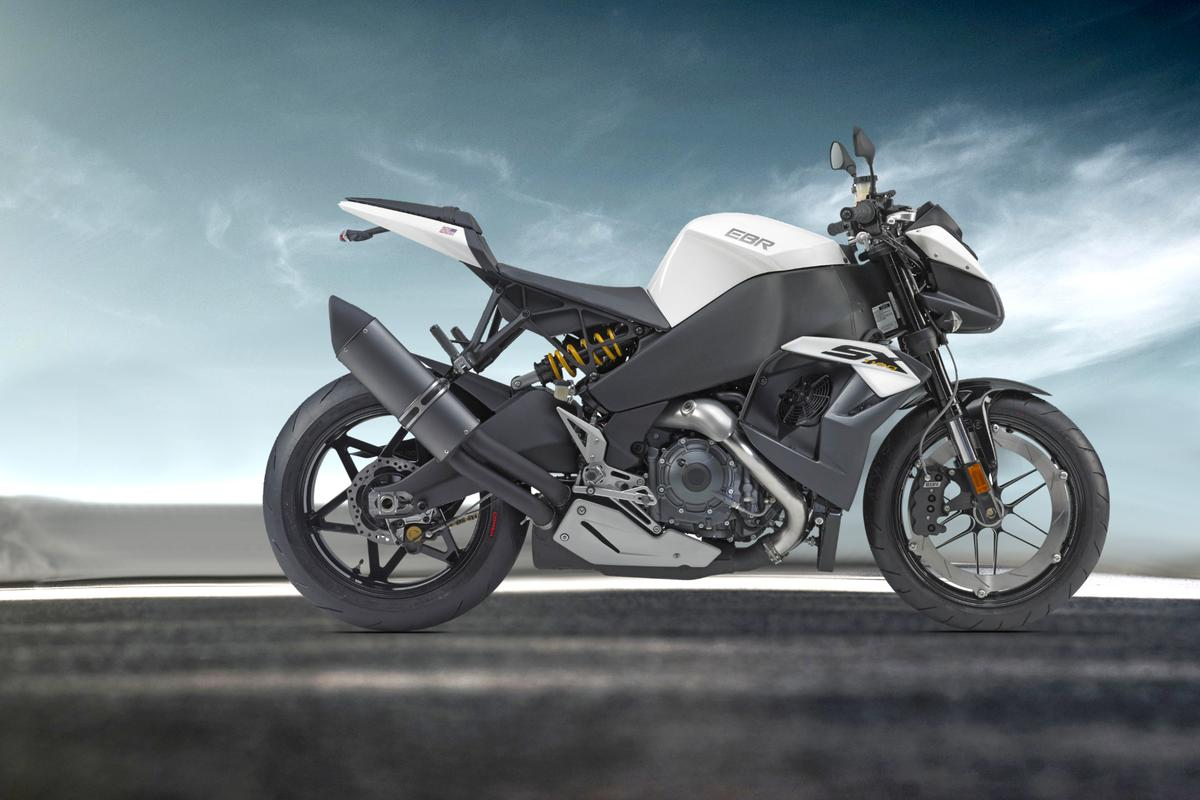 No compromises - the EBR 1190SX is the definition of a streetfighter: a superbike with its pants off.