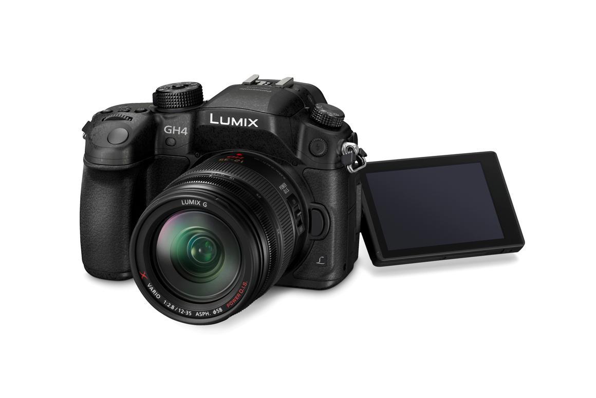 The Panasonic LUMIX DMC-GH4 digital single lens mirrorless camera